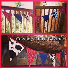 Cowboy Fabric Banner by Hdoodle on Etsy
