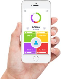 """OptimizeMe: """"Simply track your everyday life with OptimizeMe and learn how to improve it. Habit App, Quantified Self, Twitter Website, Mobile Ui Patterns, Health Routine, Mobile Web Design, Personal Goals, Personal Fitness, Me App"""