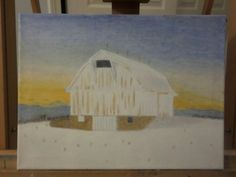#indiana #barn at sunset. Finished #oilpainting