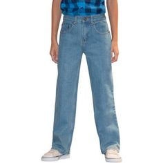 Faded Glory Boys' Relaxed Jean, Size: 6 Regular, Blue