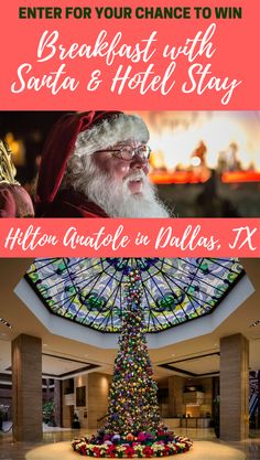 Enter for your chance to win a family getaway to the Christmas at Hilton Anatole in Dallas, TX featuring breakfast with Santa and hotel stay via @digitalmomblog