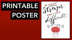 """""""We Only Get Stronger When It Gets Difficult"""" Printable PDF for use in your classroom."""