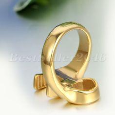 Edelstahl Ring Ringe Gold Mechaniker Schraubenschlüssel Werkzeug Motorradfahrer