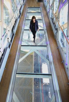 The new glass floor in the Tower Bridge Exhibition in London, UK. #design #architecture