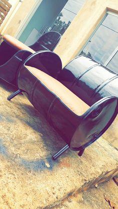 Metal Drum, Barrel Furniture, Handmade Wooden, Metallica, Design Ideas