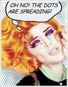 Roy Lichtenstein-inspired pop art makeup