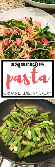 This Ham and Asparagus Pasta is a quick and easy dinner idea! It is also a frugal recipe as you can use a ham steak or leftover roasted ham.