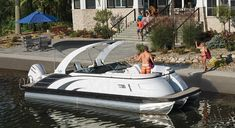 luxury performance pontoon boats with refined, unparalleled elegance. Whether you want to sunset cruise or carve a wake, the QX delivers a powerful choice of performance packages. Find features and furniture layouts for the Bennington QX Model. New Pontoon Boats, Luxury Pontoon Boats, Deck Boats, Row Row Your Boat, Row Row Row, Boat Dealer, Boat Stuff, New Class, Fishing Boats