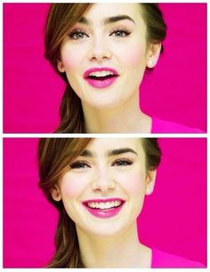 lilly Collins probably the cutest person ever, i love her make-up in this pictures, and usually all the time!