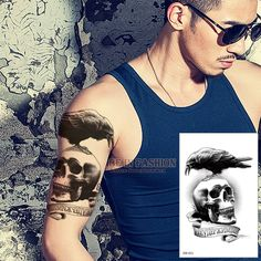 Crow Skull Tattoo //Price: $6.49 & FREE Shipping //     #tattooink