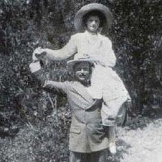 "romanovfamily: ""Grand Duchesses Olga Nikolaevna & Tatiana Nikolaevna on the shoulders of Grand Duke Ernst Of Hesse and By Rhine- 1911. """