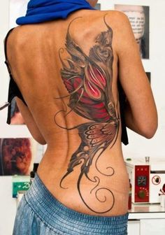 Just awesome butterfly tattoo overall a great girly tattoo i love it!