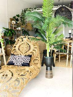 Our gorgeous Lacey Lounger Cane Furniture, Rattan Furniture, Deco Boheme, Interior Plants, Tropical Decor, Interior Design Studio, Bohemian Decor, Home Goods, Interior Decorating