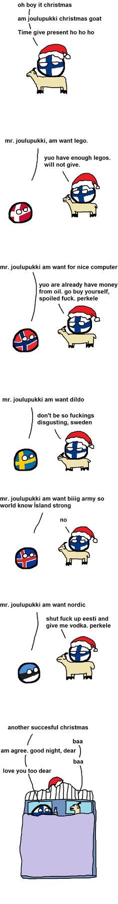 Christmas is Finnished (Finland, Denmark, Norway, Sweden, Iceland, Estonia) by Eesti Stronk #polandball #countryball