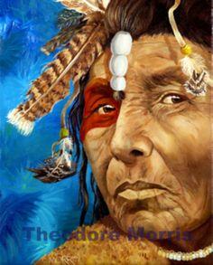 Apalachee Warrior Elder. Florida Lost Tribes by Theodore Morris