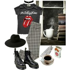 #grunge #outfit #urban #rock #punk #alternative #style -A