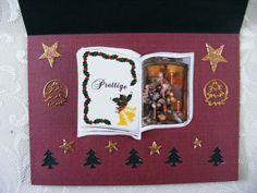 binnenkant kaart kerstboekje met pons en stickers