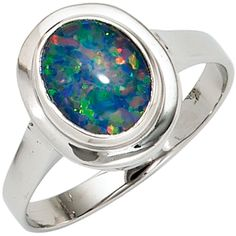 Damen Ring 585 Gold Weißgold 1 Opaltriplette Goldring A50913 56 http://www.ebay.de/itm/Damen-Ring-585-Gold-Weissgold-1-Opaltriplette-Goldring-A50913-56-/151832402133?ssPageName=STRK:MESE:IT