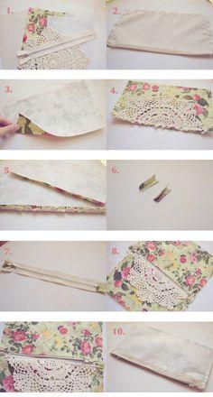 Doily DIYs: Clutch/ Pencil Case