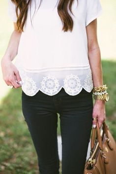 Beautiful scalloped detailing #spring #style