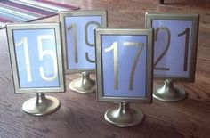 d4b25b9a838 15 Gold IKEA Tolsby Frames Wedding Table Numbers