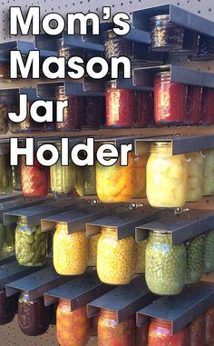 Mason Jar Storage - click through for actual photo