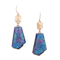 Resin Earring,Abstract patterns, more colors for choice >