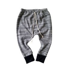 A personal favorite from my Etsy shop https://www.etsy.com/listing/264730006/marled-grey-baby-harem-pants-french