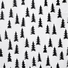Lag en stilren borddekning med en skandinavisk vri med Gran voksduk fra Fine Little Day, designet av Elisabeth Dunker. Voksduken er produsert i et akrylbelagt lin- og bomullstøy som er både olje- og vannavvisende. Det enkle granmønsteret i svart og hvitt blir et fint grunnlag på bordet og kan kombineres med andre fine tekstiler fra Gran-serien!