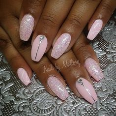 Nail art design 2018 rosa - Nägel - New Ideas Glitter French Manicure, Glittery Nails, French Nails, Nail Manicure, Pink Nails, Gel Nails, Acrylic Nails, French Manicures, Coffin Nails