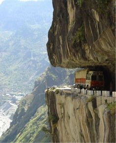 10 of the Scariest Roads In the World! La Carretera de los Yungas, Bolivia. Is this th emost dangerous? Click to find out... #scary #spon