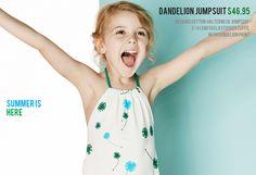Dandelion print jumpsuit