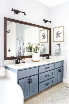 55+ Beautiful Urban Farmhouse Master Bathroom Makeover #farmhouse #masterbathroom #bathroommakeover