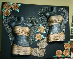 Resultado de imagem para tokreen ideas on pallet Collages, Mannequin Heads, Dress Form, Texture Art, Cover Pages, Hobbit, Painted Furniture, Shabby Chic, Diy Projects
