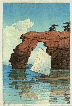 Kawase Hasui, Zaimoku Island, Matsushima, 1933