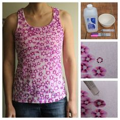 Make a tie-dye effect shirt with colored sharpies and rubbing alcohol.