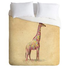 DENY Designs Home Accessories   Terry Fan Fashionable Giraffe Duvet Cover