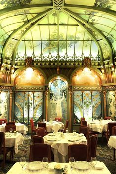 La Fermette Marbeuf is a renowned restaurant located in the heart of Paris, near the illustrious Champs-Elysees. Created in 1898 by the young architect Émile Hurtré and the artist Jules C. Wielhorski,