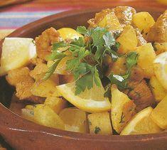 Carne de Peru Salteada com Batatas e Limão - http://www.receitassimples.pt/carne-de-peru-salteada-com-batatas-e-limao/