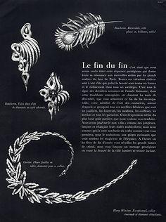 Cartier (Necklace) 1963  Boucheron Clips
