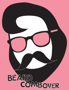 4f987f654a3 GALS - Beard Combover - Available in v-neck or tank! 3 colors available in  each. Fun shirts for women.