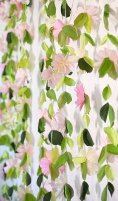 Make a Flower Garland Wedding Backdrop