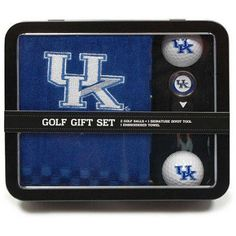 Team Golf Ncaa Kentucky Embroidered Golf Towel, 2 Golf Balls, And Divot Tool Set, Multicolor