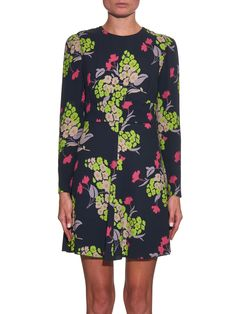 Flower-print crepe dress | REDValentino | MATCHESFASHION.COM UK