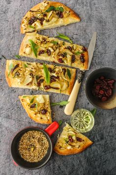 Cauliflower and Cranberry Flatbread with Dukkah @FoodBlogs