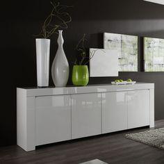 Buffet bahut blanc laqué design