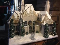 ArtTalk: Glitter house creator makes small replicas of buildings ...