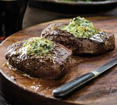 Steak with bistro butter recipe, Herald on Sunday – This recipe by Annabel Langbein was prepared for us by Main Course cooking school for a tasty Silver Fern Farms presentation - Eat Well (formerly Bite) Steak Recipes, Cooking Recipes, Easy Recipes, Yummy Treats, Yummy Food, Porterhouse Steak, Australian Food, Butter Recipe, Quick Easy Meals