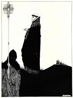 The Year's at the Spring, 1920 by Harry Clarke. Art Nouveau (Modern). illustration