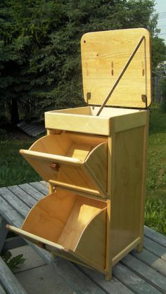 potato and onion bin - by coaltowner @ LumberJocks.com ~ woodworking community